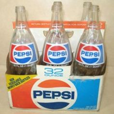 Vintage Pepsi bottles...brings back memories of my daddy, he worked at Pepsi for over 10 years during the late 60's and early 70's. We always had plenty of Pepsi products in our house! :-)