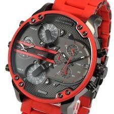 4e8114d6f15e DIESEL Original Mr. Daddy 2.0 Gunmetal Dial Red Silicone Strap Watch DZ7370