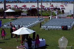 Weddings at the Hotel del Coronado are special...like this one overlooking the beach and the gardens.
