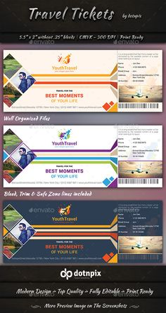 Travel Tickets  #party • Click here to download ! http://graphicriver.net/item/travel-tickets/9396250?ref=pxcr