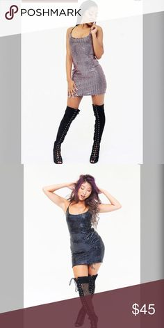 Bodycon sequin dress Sequin dress, open back Dresses Mini
