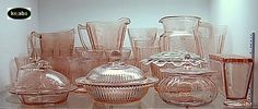 Examples of Depression Glass pieces