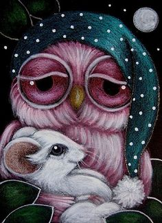 Google Image Result for http://www.ebsqart.com/Art/Gallery/Media-Style/690597/650/650/SLEEPY-BABY-OWL-WITH-BABY-MOUSE.jpg