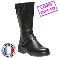 41d2d2ede5a Delia Ladies High Leg Black Leather S3 SRC Safety Boots Professional Women