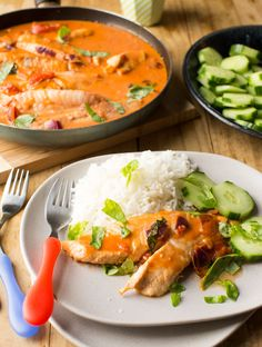Fijian Coconut Fish with Tomato, Basmati and Cucumber