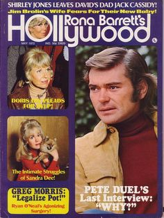Pete Duel (Alias Smith & Jones) on the cover of Rona Barrett's Hollywood, May 1972 | Flickr - Photo Sharing
