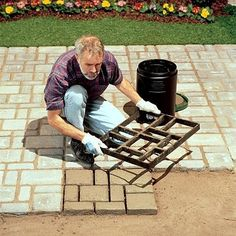 Belgian mold cobblestone mold I am so going to do this for my back patio! Diy Patio, Backyard Patio, Backyard Landscaping, Patio Decks, Diy Concrete Patio, Landscaping Ideas, Concrete Paver Mold, Paver Sealer, Paver Sand