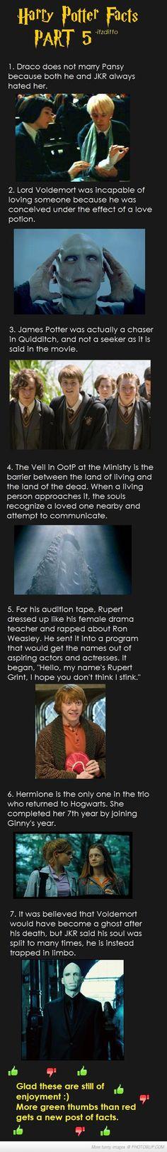 Harry Potter Facts Part Five