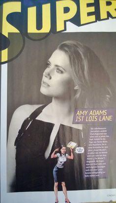 Amy Adams is Lois Lane, Cinema Magazine April 2013 #ManofSteel