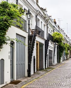 Doors and staircases in London's Holland Park Mews