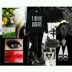 Emo/Scene Outfit on Polyvore. Clothes!!