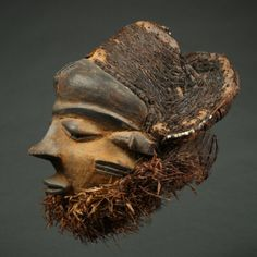 MBUYE MASK | Virtual Tribal and Textile Art Shows Male Figure, West Africa, Tribal Art, Congo, Textile Art