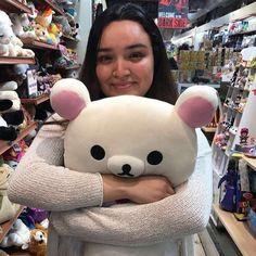 Our plushies need some love too! Thanks for this bear hug @raculfright_13 @drearydoll 😍🐻 #plush #bearhug #rilakkuma @rilakkuma_na #cuteness #kiiroitori #sanx #korilakkuma #puzzlezoo #puzzlezootoys #shoplocalsm