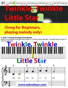 Learn to play this song's melody and more songs on the piano keyboard Piano Songs For Beginners, Easy Piano Songs, Little Star, Fun Learning, Keyboard, Play, Easy Songs For Piano