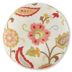 "jcp home™ Tapestry Rose 16"" Round Decorative Pillow  found at @JCPenney"