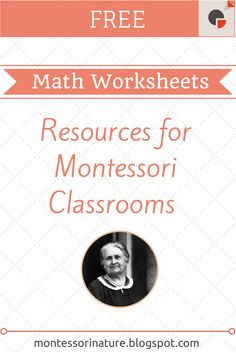 Montessori Nature: Free Montessori Math Worksheets. KLP Linky Party