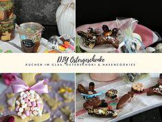 DIY Ostergeschenke – Schokokuchen im Glas, Osterschokolade, Hasencookies