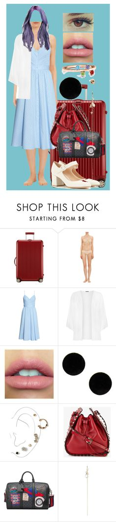 """""""Sin título #482"""" by coldprincess on Polyvore featuring moda, Rimowa, Cosabella, WearAll, MM6 Maison Margiela, Miss Selfridge, Valentino, Gucci, Zimmermann y Gianvito Rossi"""