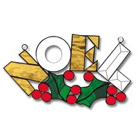 Free Pattern, Holiday Noel Stained Glass