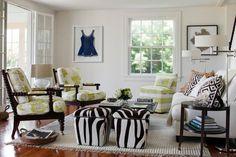 black french doors in cottage   Design - living rooms - David Hicks La Fiorentina, French doors ...