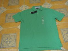 Men's Tommy Hilfiger Polo shirt large L solid NEW 7812735 knit green color 310