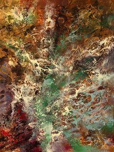 "Zohar Wallach, ""First Light"" | Mixed Media on Canvas | $3,800 | Source: www.art-mine.com/... | Agora Gallery | Contemporary Fine Art | NYC, NY."
