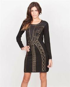 Yuka Paris Studded Dress - Dresses - Apparel at Viomart.com