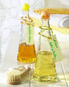Homemade bath oil.