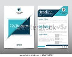 Blue Square Annual Report Brochure Flyer Design Template Vector