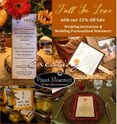 25% Off Wedding Invitations and Wedding Personalized Stationery.