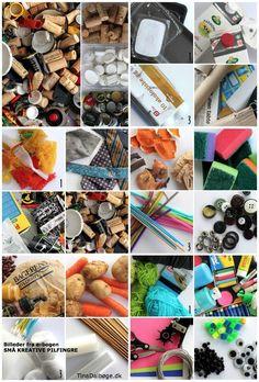 kreative ideer for de mindste af genbrugsmaterialer og billige hverdagsting