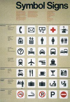 Roger Cook y Dan Shanosky. Sistema de símbolos para el U.S. Department of Transportation, 1974