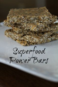 Superfood Power Bars Recipe I love to snack. I love food. I love to eat. The trick for me is to find and make foods that are good for me and these are good from Having Fun Saving.