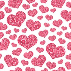 Hearts | Seamless Hearts Pattern Background Vector | DragonArtz Designs (we ...