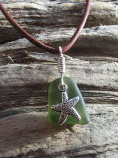 Sea Glass Necklace -Scottish Seaglass-Surfers Necklace-Beachwear. via Etsy