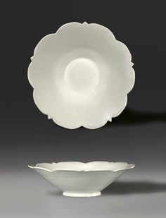 Conical bowl with five-point foliate rim. Late Tang Dynasty-Five Dynasties, A.D. 10th Century, North China