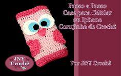 Passo a Passo Case de Crochê para Iphone Corujinha por JNY Crochê