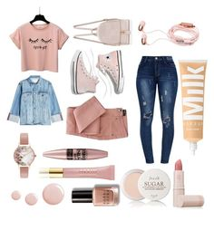 """""""my stile"""" by antonellagalli ❤ liked on Polyvore featuring Frame, Madewell, Olivia Burton, Maybelline, Topshop, AERIN, Fresh, Bobbi Brown Cosmetics and Lipstick Queen"""