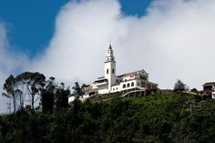 Monserrate, beautiful church in the mountains overlooking Bogota