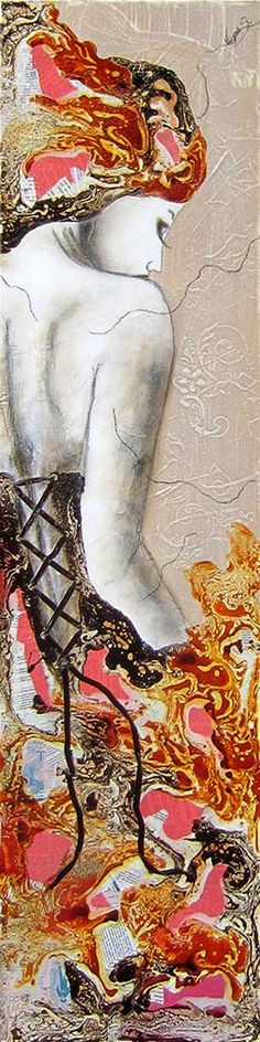 """""""Fougueuse"""" by Virginie Schroeder (48 x 12 in)"""