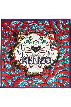 Kenzo - Tiger central scarf print Its' s all about the tiger!
