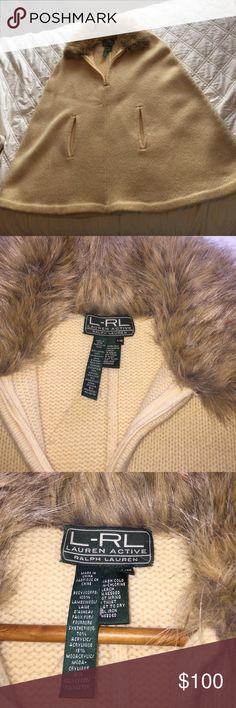 Ralph Lauren lambswool cape sweater Lambswool poncho type sweater new. Size small medium. L-RL Lauren active by Ralph  Laurent Sweaters Shrugs & Ponchos