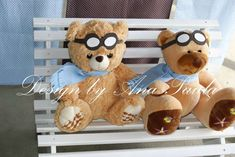 Aviator teddy bear | CatchMyParty.com