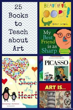 25 Amazing Books for Teaching about Art – Education is important Art Books For Kids, Art For Kids, Kindergarten Art, Preschool Art, Art Doodle, Art Lessons Elementary, Elementary Teaching, Art Curriculum, School Art Projects