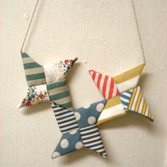 Nuno Origami Fabric Necklace M