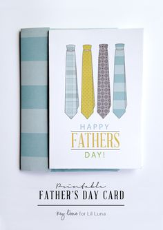 Resize for project life card. Source: Printable Fathers Day Card + Envelope