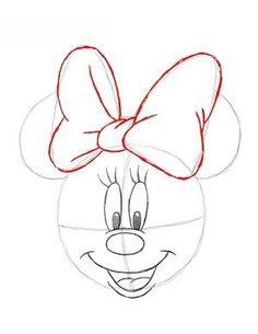 jak narysować Myszkę Minnie 12