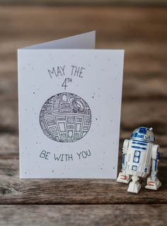 May The 4th Be With You Card - Star Wars Holiday - Star Wars Card