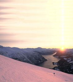 What a place to ski...