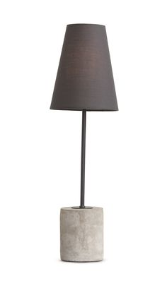 Ira Table Lamp, in Harrier Grey. An urban and elegant lighting solution. £49. MADE.COM